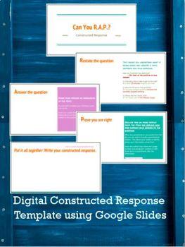 Digital Constructed Response Using Google Slides