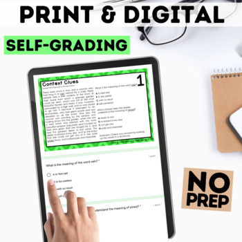Digital Context Clues Task Cards for Google Forms™