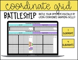 Digital Coordinate Graphing Battleship | 1-Quadrant & 4-Quadrant