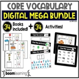Digital Core Vocabulary Adapted Books and Activity Boom Cards