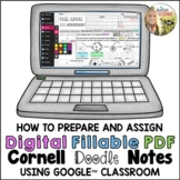 Digital Cornell Doodle Notes Instructions for Google Class