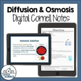 Digital Cornell Notes for Biology - Osmosis Diffusion Cell