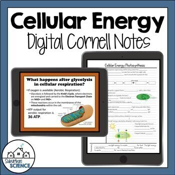 Photosynthesis and Cellular Respiration Notes - Distance Learning for Biology