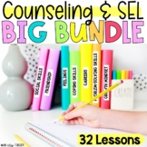 Digital Counseling SEL BUNDLE of 32 Lessons In-Person & Digital Learning