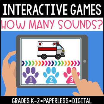 Interactive, Digital and Paperless Count the Syllables Games