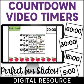 Digital Countdown Video Timers