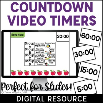 Digital Countdown Video Timers