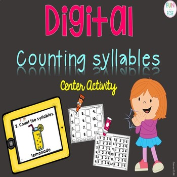 Digital Counting Syllables Center Activity