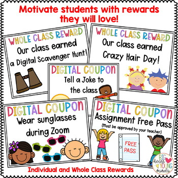 Digital Coupons And Class Rewards For Distance Learning Tpt