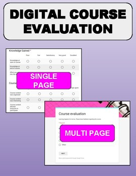 Digital Course Evaluation (Google Forms)