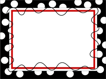 Digital Cover Page and Background: Polka Dot Squiggle