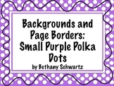 Digital Cover Page and Background: Small Purple Polka Dot