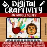 Digital Craft / Craftivity on Google Slides: Thanksgiving