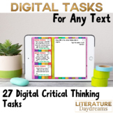 Digital Critical Thinking Task Cards any literature text