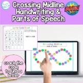 Digital Crossing Midline, Handwriting & Drawing Game for T