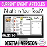 Digital Current Event Article, Food and Nutrition, Healthy