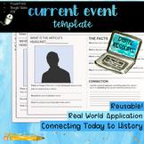 Digital Current Event Template