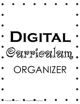 Digital Curriculum Organizer