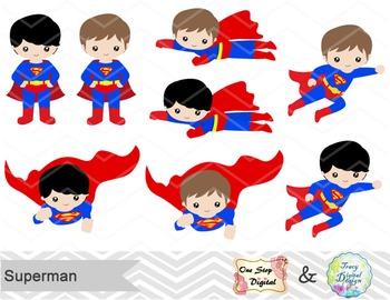 Digital Cute Superman Clip Art Superhero Clip Art Superman Boys Clip Art 00184