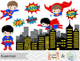 Digital Cute Superman Clip Art Superhero Clip Art Superman
