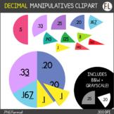 Digital DECIMAL Circle Manipulatives (CLIPART)