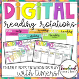 Digital Daily 5 Rotations: Editable Presentation Display with Timers!