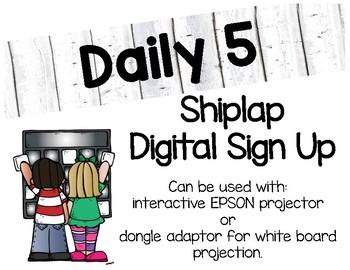 Digital Daily 5 Sign Up (Shiplap)