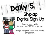 Digital Daily 5 Sign Up (Shiplap)