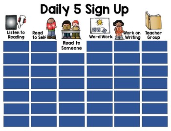Digital Daily 5 Sign Up (White)