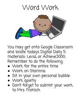 Digital Daily 5 for Upper Grades
