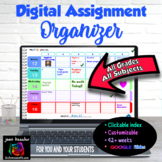 Editable Teacher Planner and Digital Assignment Organizer
