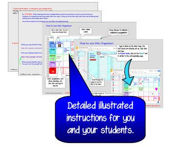 Editable Teacher Planner and Digital Assignment Organizer with GOOGLE Slides™