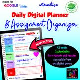Editable Teacher Planner and Digital Assignment Organizer with GOOGLE Slides