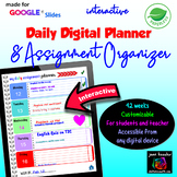 Editable Daily Planner and Digital Assignment Organizer GOOGLE Slides™