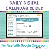 Digital Daily Calendar Slides for Use With Google Classroom™