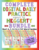 Digital Daily Practice for Heggerty & CVC Words - COMPLETE BUNDLE