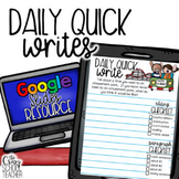 DIGITAL Quick Write Prompts BUNDLE   Daily Quick Writes  