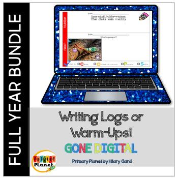 Digital Daily Quick Writes Writing Warm Ups and Logs Year Long Bundle