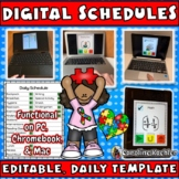 Digital Daily Schedule: Editable Templates for Autism - Distance Learning