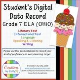 Digital Data Notebook, Student Edition, 7th Grade ELA (OHIO)