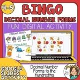 Digital Decimals BINGO - Google Slides Game - tenths and hundredths