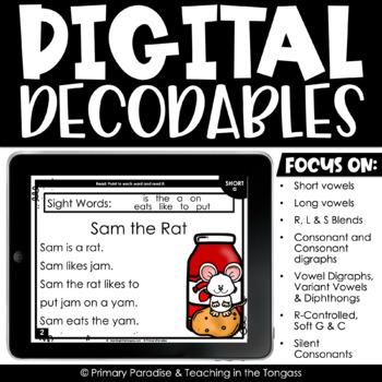 Digital Decodables Reading Passages (Google Classroom Activities)