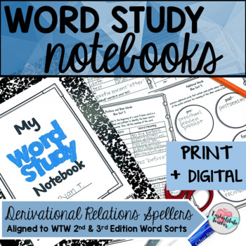 Digital Derivational Relations Spellers Word Study Notebook Google Slides(TM)