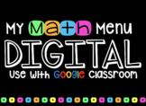 Digital Differentiated MATH Menus