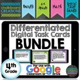 Digital Differentiated Task Cards: Bundle 4th Grade (GOOGL