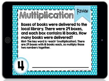 Digital Differentiated Task Cards: Multiplication (2 Digit by 2 Digit) (GOOGLE)