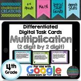 Digital Differentiated Task Cards: Multiplication (2 Digit
