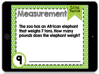 Digital Differentiated Task Cards: Relative Sizes of Measurement Units (GOOGLE)