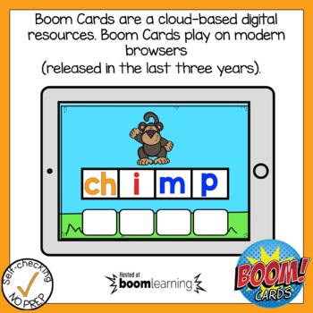Boom Cards Digraph CH Build A Word