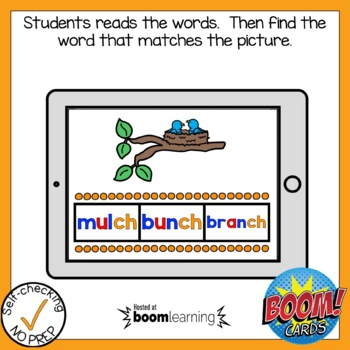 Digital Digraph CH Find the Word Boom Card